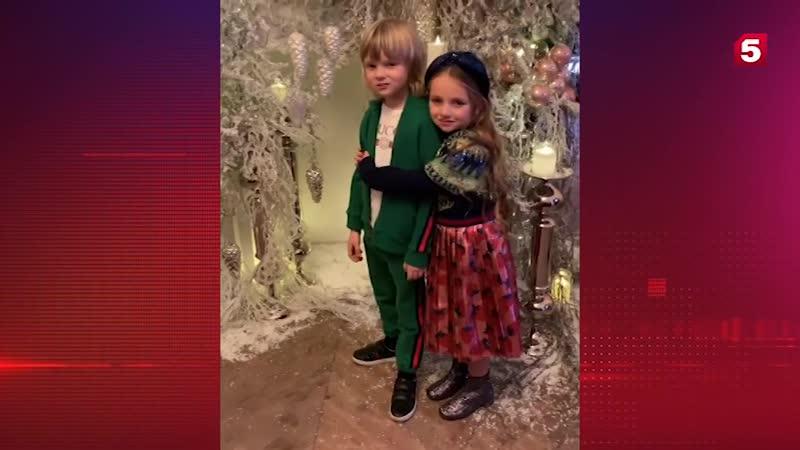 Поклонники умилились снимку сына Рудковской и дочери Навки