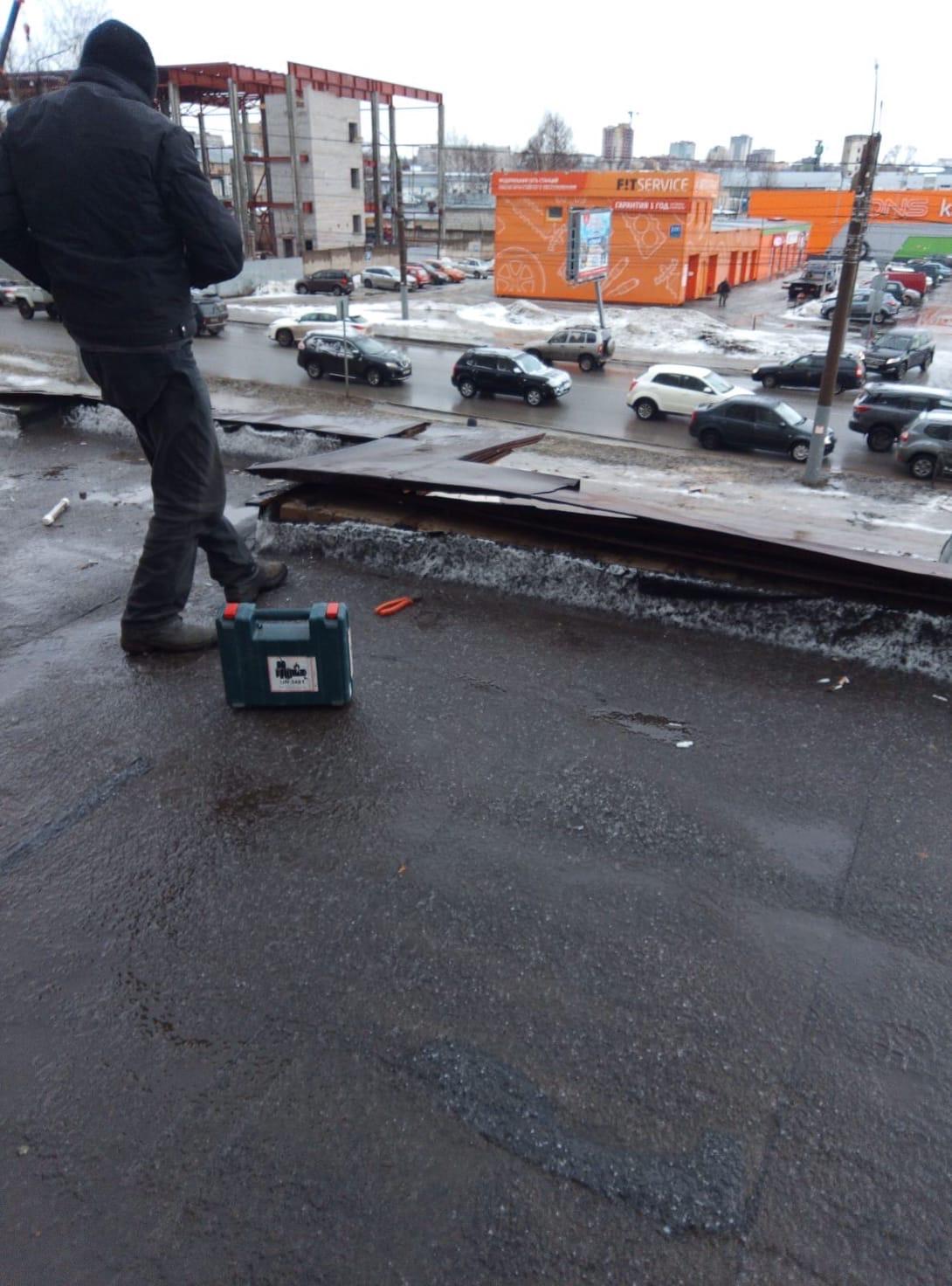 Аварийный ремонт парапета улица Московская дом 103