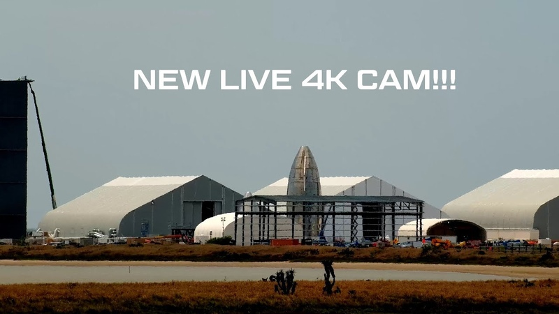 Live 4K Beta Test 24 7 SpaceX Boca Chica Starship Construction and Launch Facility