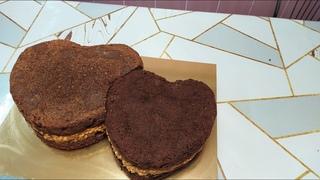Формируем и собираем торт Два сердца. Дорабатываем насадки.