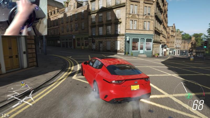 Drift on KIA Optima V8   Forza Horizon 4   Thrustmaster T150
