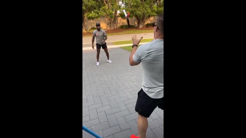 Jarvis Landry Gets Workout With Breshad Perriman Outside Of The Mansion