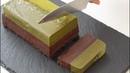 濃厚抹茶とチョコのWテリーヌショコラの作り方 Matcha Chocolate Layer Terrine(GF)ラッピング 123