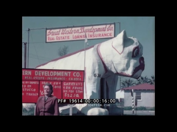 LOS ANGELES BULLDOG CAFE ROADSIDE VERNACULAR ARCHITECTURE DOG SHAPED BUILDING 19614