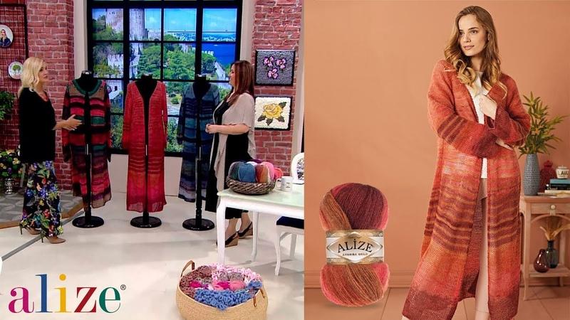 Alize Angora Gold Batik ile Uzun Hırka Yapımı - Long Cardigan with Angora Gold Batik Tutorial