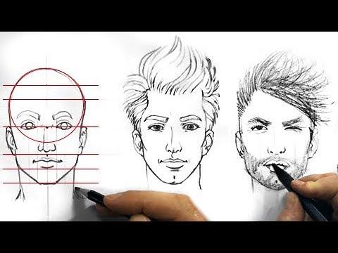 Tutorial come disegnare un volto proporzionato partendo da semplici forme geometriche