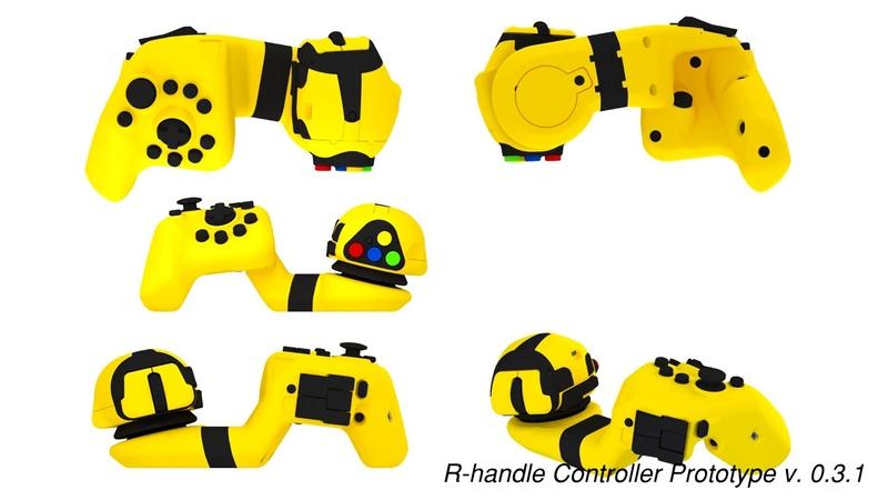 R-handle Controller Presentation for Indiegogo