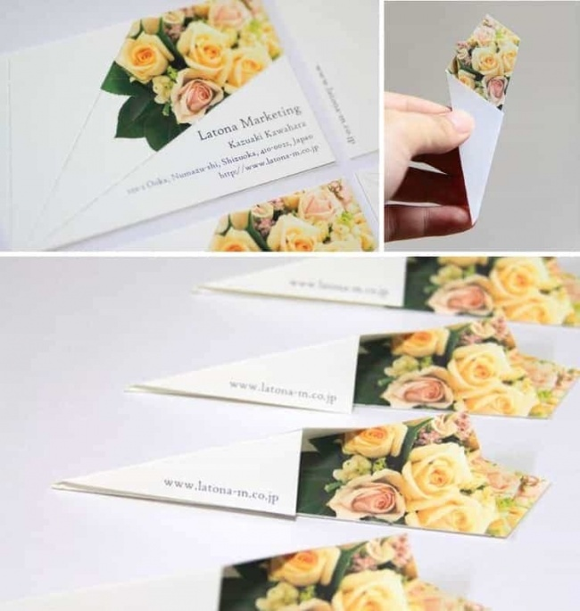 Букет из визитки от креативного флориста