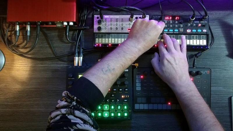 KORG Volca FM, Keys, Uno Synth, Elektron Digitakt   Synthwave Jam