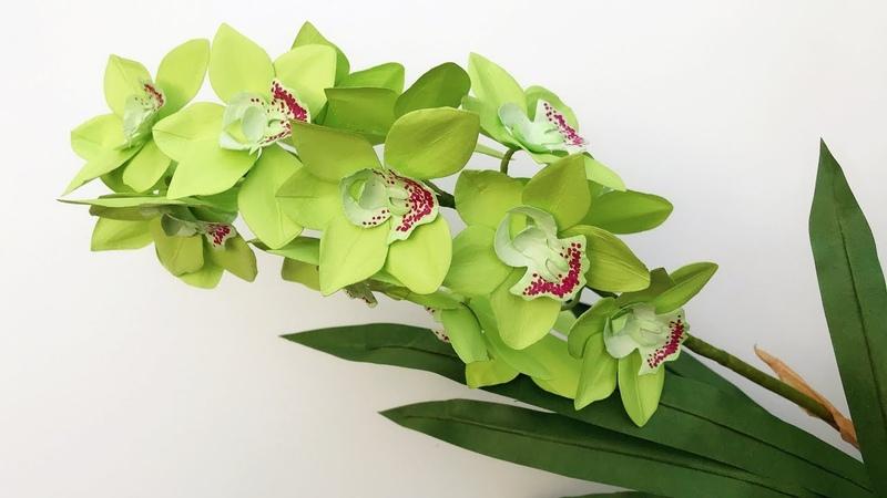 ABC TV How To Make Cymbidium Orchid Paper Flower Flower Die Cuts Craft Tutorial