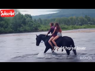 Two girls double horse riding on water for fun indian actress horse riding