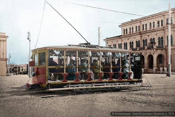 Начало эпохи электрического трамвая в Казани