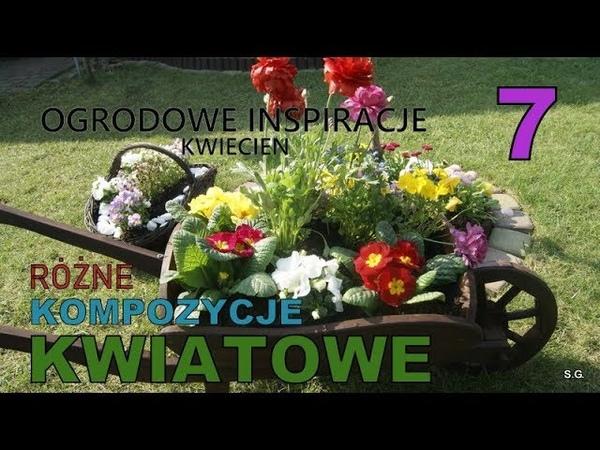 OGRODOWE INSPIRACJE 7 Kompozycje kwiatowe Kosz taczka donica