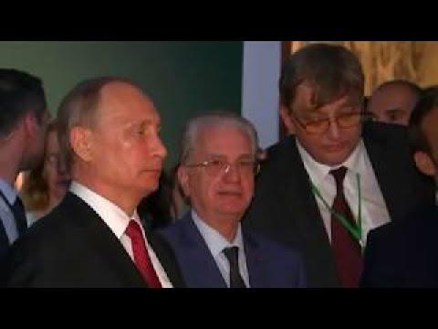 ПУТИН открыл выставку Петра I в Версале Пётр Великий Царь во Франции 1717 видео 29 05
