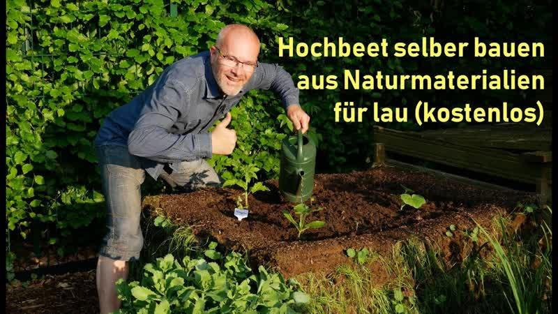 Hochbeet selber bauen kostenlos aus Naturmaterialien Permakultur DIY