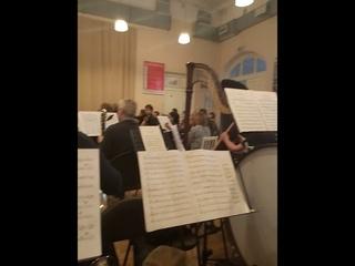 "Richard Strauss ""Ein Heldenleben"" (эпизод) репетиция к концерту в Филармонии"