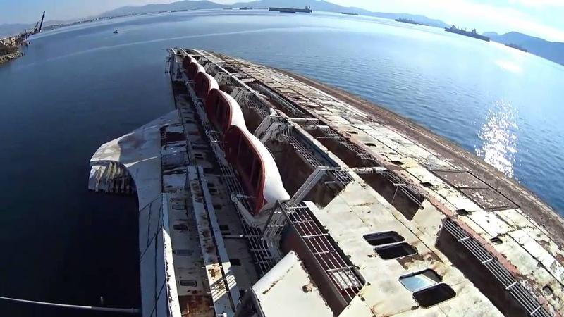 ΝΑΥΑΓΙΟ ΕΛΕΥΣΙΝΑΣ MEDITERRANEAN SKY Shipwreck Mediterranean Sky Greece drone video