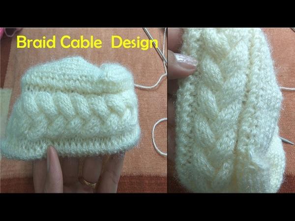 Braid Cable Design in Hindi Knitting (चुटिया केबल बुनाई में) | Knitting Hindi |