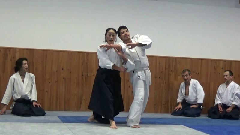 Okamoto Yoko Shihan, au dojo René VDB 24-01-19 2ème cours