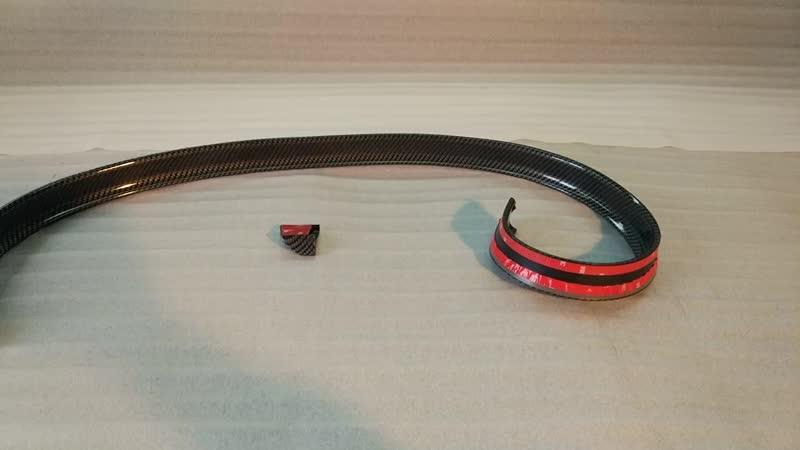 Универсальный лип спойлер карбон rear lip spoiler carbon-1.mp4