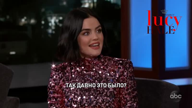 Люси на шоу Джимми Киммел в прямом эфире 12 02 2020 RUS SUB