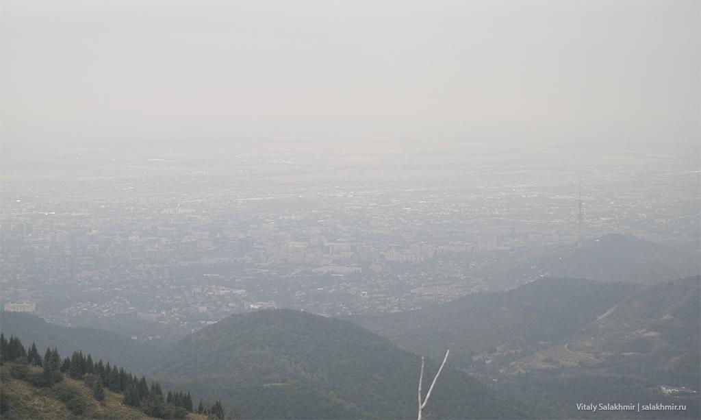 Панорама Алматы с дороги на Кок-Жайляу 2019