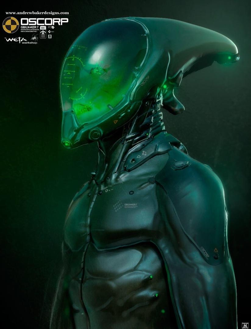 Жуткий и футуристичный Зеленый Гоблин на концептах фильма ...