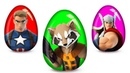 Открываем Яйца с Сюрпризом Мстители! Енот Ракета, Капитан Америка, Тор