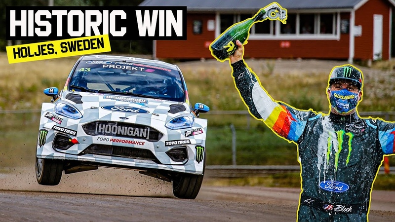 Ken Block Wins First Ever All Electric World Rallycross Race Projekt E