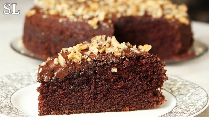 Буквально Тает Во Рту! Сочный Без Пропитки! Быстрый Шоколадный Торт за 10 Минут Время для Выпечки