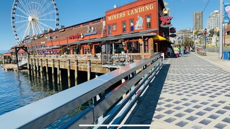Seattle Waterfront 4K 60fps - short walk - | iPhone 11 Pro