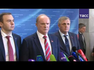 Пресс-подходы представителей фракций после выступления Путина в Госдуме