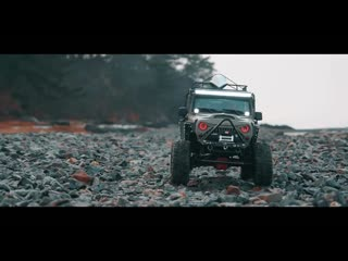 Xtra speed Jeep JK Hard Body V2, Axial SCX10 II Rubicon A lonely winter ride+RC models