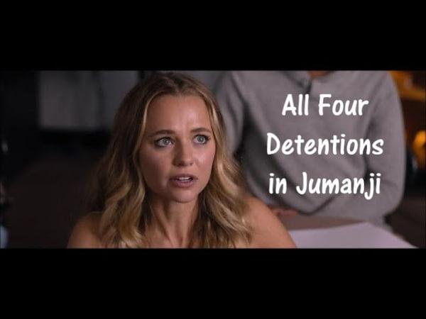 Jumanji: Welcome to the Jungle - All Four Detention Scenes|Dwayne Johnson|Karen Gillan|Kevin Hart