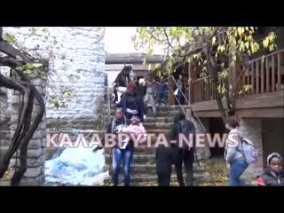 Griechenland - Flchtlinge lehnen Unterkunft im Kloster Poretsos emprt ab (720p_30fps_H264-192kbit_AAC)