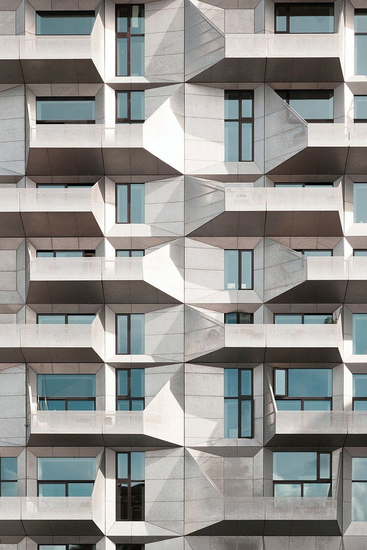 Andres Gallardo captures the geometrical facade of COBE's 'silo building' in Copenhagen