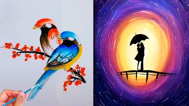 Nghệ thuật vẽ tranh đỉnh cao của họa sĩ Trung Quốc43💘Painting artist💘Most Amazing Art Drawing Video