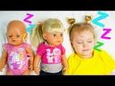 Куклы Беби Бон убежали от девочки Ники. Малышки не хотят спать. Девочка Ника для кукол как мама