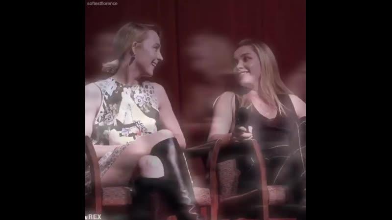 Florence pugh x saoirse ronan little women vine ♡