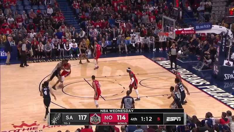 Два ключевых попадания от Белинелли и Олдриджа в матче с Pelicans