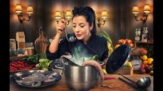 """Шоу 1 Кухня:Перезагрузка ч.3 - 19 выпуск - Салат """"Весенний"""" и коктейль банановый."""