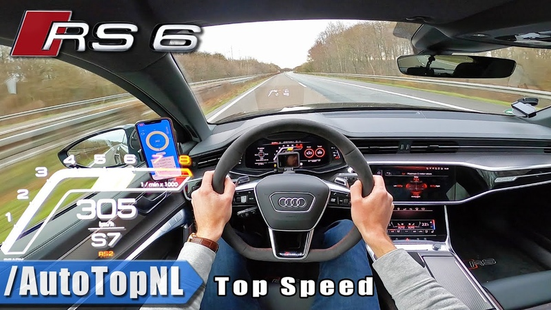 AUDI RS6 C8 305km h TOP SPEED on AUTOBAHN NO SPEED LIMIT by AutoTopNL