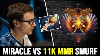 MIRACLE vs Top 1 MMR Smurf — 11K MMR Mid GPK