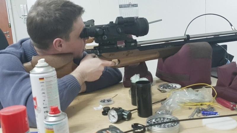 Отстрел Атаман М2р 6,35 полнотел для Вадима с ночной оптикой