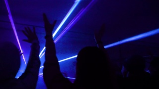 Лазерное шоу для Хэллоуина в Москве