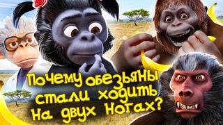 Почему обезьяны стали ходить на двух ногах? | Андрей, Маруся и другие обезьяны | 2-я серия