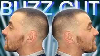 Buzz cut // Мужская короткая стрижка под машинку? // Как сделать переход машинкой с насадкой