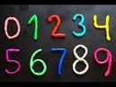 Учим цифры. Цифры для малышей детей. Лепим цифры из пластилина плей до Play-Doh
