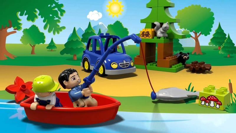 LEGO® DUPLO® Foresta Campeggio sul Lago Animazione Prodotto