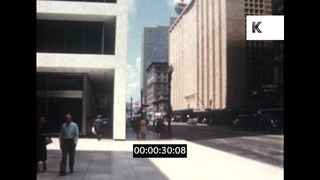 1960s Houston Texas, POV Driving and Street Scenes, 8mm